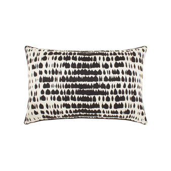 Cotton and viscose cushion with jacquard pattern
