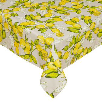 Lemon 100% cotton table cloth.