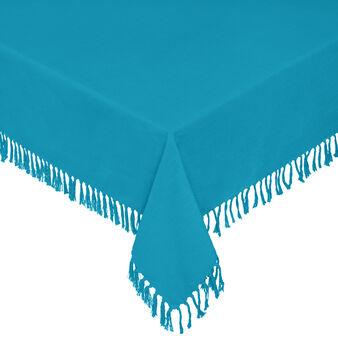 100% cotton tablecloth with fringing