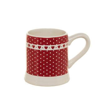 Polka dot ceramic mug