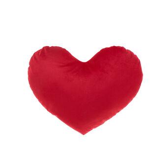 Velvet heart cushion