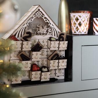 Advent calendar in balsa wood