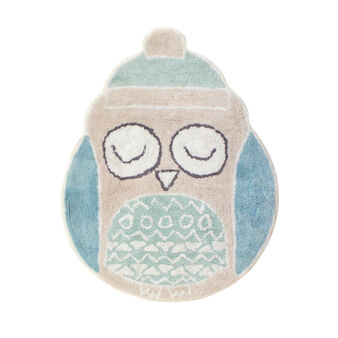 Owl mat in cotton.