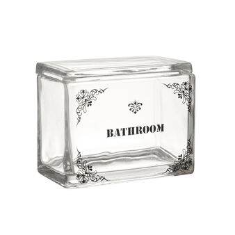 Bathroom glass container