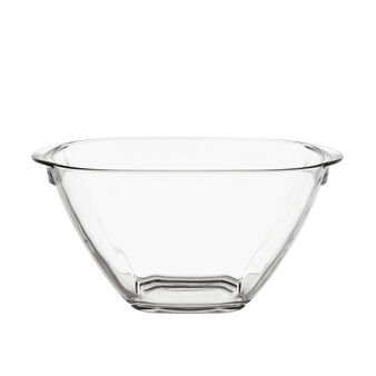 Glass bowl with handles