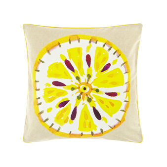 100% cotton cushion with passion fruit print