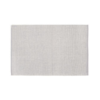 Striped and ribbed cotton table mat