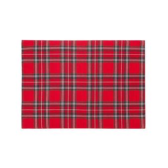 Tovaglietta tinta in filo tartan scozzese