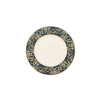 Side plate in fine bone china with decorated edge