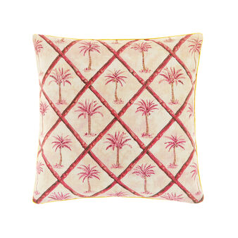 100% cotton cushion with palms print
