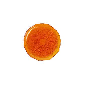 Piatto frutta arancia vetro