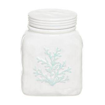 Barattolo ceramica decorazione corallo