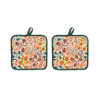 Microfruits two-pack pot holders in 100% cotton