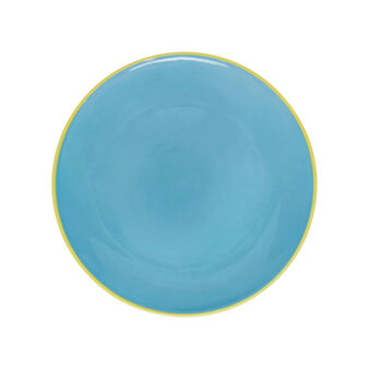 Ceramic plate with contrasting colour rim