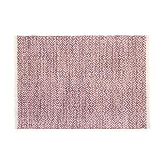 Tappeto bagno in cotone fantasia geometrica