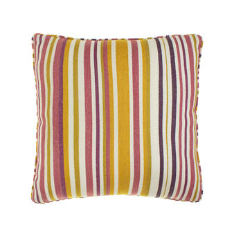 Cushion with striped pattern