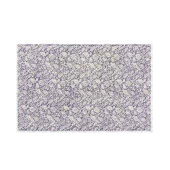 Tappeto bagno stonewashed stampa micro foliage