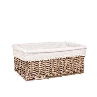Basket in natural willow wood