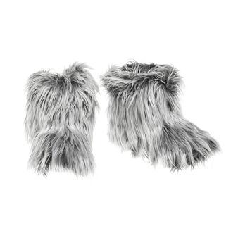 Pantofole stivaletto in finta pelliccia
