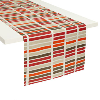 Zefiro table runner with geometric print