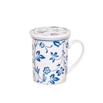 Mug tisaniera in porcellana fantasia floreale