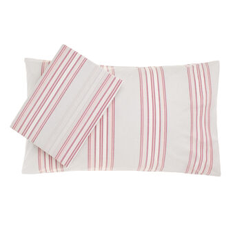 Yarn dyed, striped cotton double duvet cover set