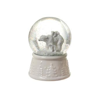 Palla di neve vetro e porcellana D 10cm