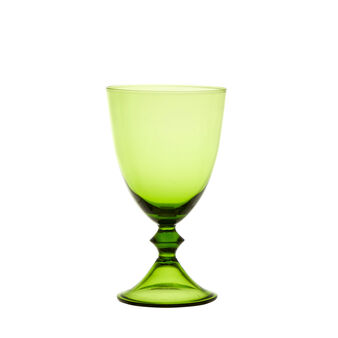 Coloured drinking goblet