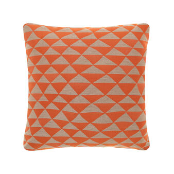 Jacquard cushion with optical pattern