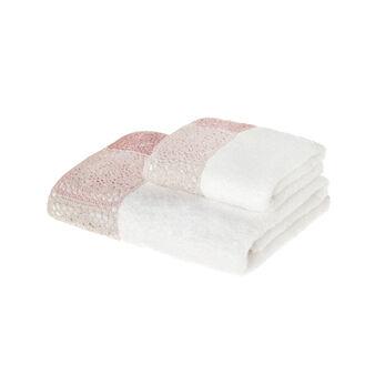 Asciugamano con applicazioni crochet
