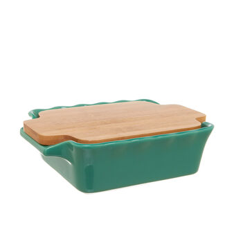 Ceramic mould with bamboo lid