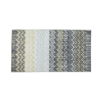 Patterned jacquard beach towel in cotton terry