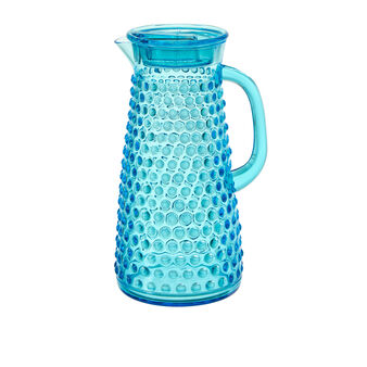 Plastic carafe with bubble decoration