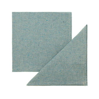 Two-pack mélange napkins with lurex