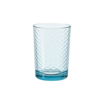 Drinking glass with geometric decoration