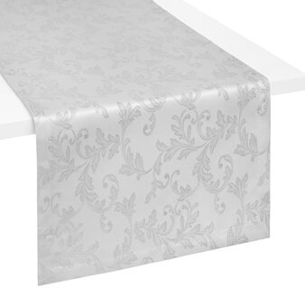 Jacquard weave table runner with lurex