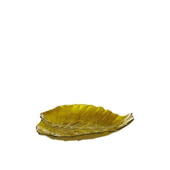 Piatto frutta foglia vetro