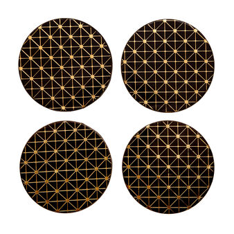 4-pack plastic drinks coasters