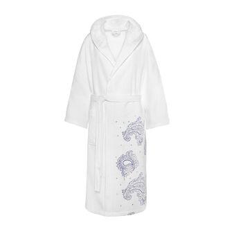 100% cotton bathrobe with leaves print