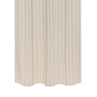 Linen blend curtain with jacquard design