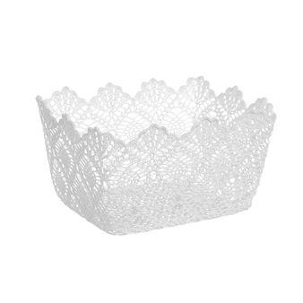 Rectangular crocheted basket