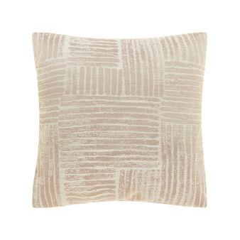Jacquard cushion with geometric pattern