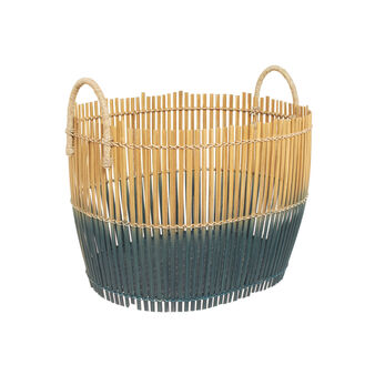 Blended two-tone bamboo basket