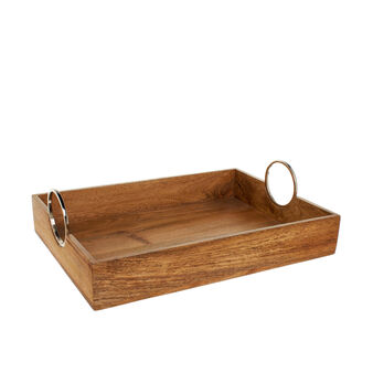 Tray in mango wood with handles