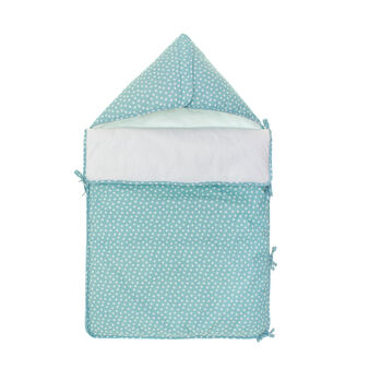 Sleep sack in sky blue cotton with star print