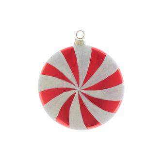 Sfera piatta vetro spirale D 10cm