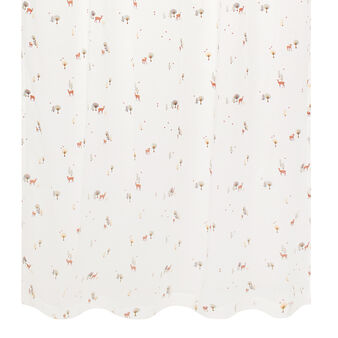 Voile curtain with deer and tree print