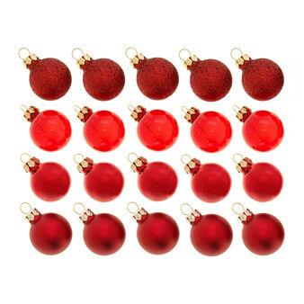 Set 20 palline natalizie in vetro colorato D 3cm