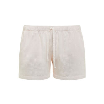 Shorts in raso di cotone fantasia
