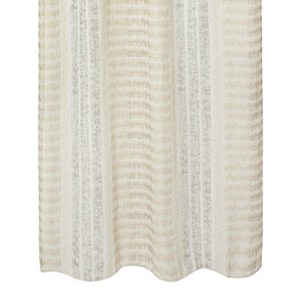 Linen blend printed curtain